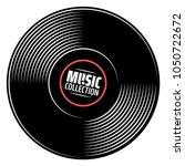 gramophone vinyl record with... | Shutterstock .eps vector #1050722672