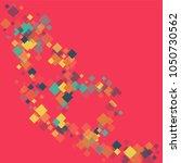 rhombus backdrop minimal... | Shutterstock .eps vector #1050730562
