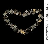 rhombus black minimal geometric ... | Shutterstock .eps vector #1050731372