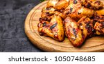grilled or oven roasted chicken ... | Shutterstock . vector #1050748685