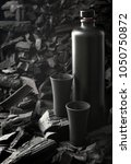 original black matte bottle of...   Shutterstock . vector #1050750872