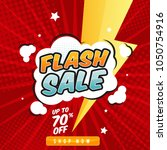 flash sale banner template... | Shutterstock .eps vector #1050754916