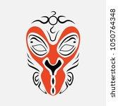 beijing opera mask  of ancient...   Shutterstock .eps vector #1050764348