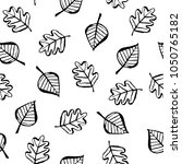botanical seamless pattern with ... | Shutterstock .eps vector #1050765182