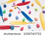 easter. abstraction from...   Shutterstock . vector #1050765752