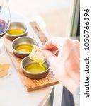 olive oil tasting in alentejo... | Shutterstock . vector #1050766196