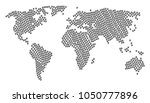 world map concept combined of... | Shutterstock . vector #1050777896