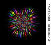 colorful burst  abstract... | Shutterstock .eps vector #1050781412