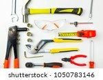 set of construction tools on... | Shutterstock . vector #1050783146