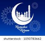 beautiful ramadan kareem... | Shutterstock .eps vector #1050783662