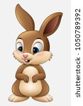cute rabbit cartoon isolated on ... | Shutterstock .eps vector #1050789392