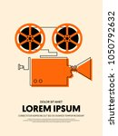 movie and film modern retro... | Shutterstock .eps vector #1050792632
