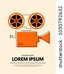 movie and film modern retro... | Shutterstock .eps vector #1050792632