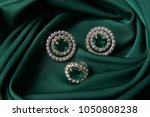 diamond ring and earrings with... | Shutterstock . vector #1050808238