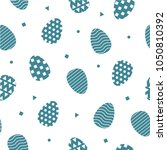 easter eggs seamless pattern | Shutterstock .eps vector #1050810392