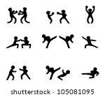 fighting sports | Shutterstock .eps vector #105081095