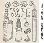 vaporizer shop. beautiful...   Shutterstock .eps vector #1050812462
