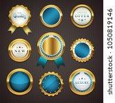 premium commercial golden ... | Shutterstock .eps vector #1050819146