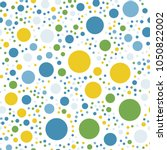 colorful polka dots seamless... | Shutterstock .eps vector #1050822002