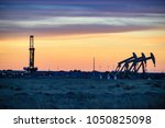 american shale gas   drilling... | Shutterstock . vector #1050825098