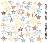 hand drawn doodle stars and... | Shutterstock .eps vector #1050840065