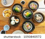 asian food  chinese food dim sam | Shutterstock . vector #1050840572