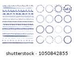 set of 16 seamless handdrawn... | Shutterstock .eps vector #1050842855