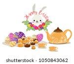 happy easter day items design...   Shutterstock .eps vector #1050843062