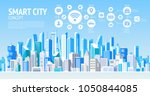 smart city. social media... | Shutterstock .eps vector #1050844085