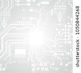 vector circuit board... | Shutterstock .eps vector #1050844268