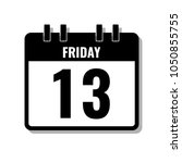 friday 13  black calendar flat... | Shutterstock .eps vector #1050855755