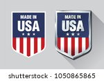 vector made in usa sign | Shutterstock .eps vector #1050865865