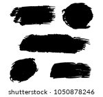 collection of hand drawn black... | Shutterstock .eps vector #1050878246