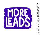 more leads. vector hand drawn... | Shutterstock .eps vector #1050883616