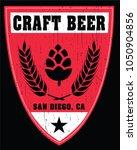sd craft beer | Shutterstock .eps vector #1050904856