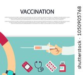 vaccination concept banner... | Shutterstock .eps vector #1050905768