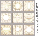 art deco vintage patterns and... | Shutterstock .eps vector #1050905975