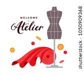 welcome to atelier vector flat... | Shutterstock .eps vector #1050909368