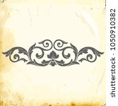 retro baroque decorations... | Shutterstock .eps vector #1050910382