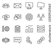 flat vector icon set   group... | Shutterstock .eps vector #1050910565
