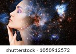 abstract image of woman face... | Shutterstock . vector #1050912572
