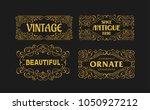 vintage swirl antique ornament... | Shutterstock .eps vector #1050927212
