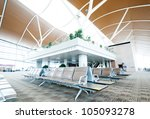 interior of the airport in... | Shutterstock . vector #105093278