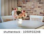 artificial peonies flowers in...   Shutterstock . vector #1050933248