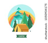 camping. campground in the...   Shutterstock .eps vector #1050934175