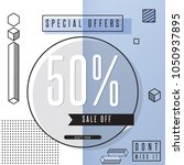special sale off  sale banner... | Shutterstock .eps vector #1050937895