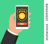 emergency call 911 concept.... | Shutterstock .eps vector #1050939698