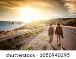 two young female travel... | Shutterstock . vector #1050940295