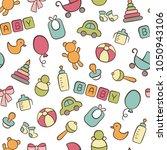 baby. newborn. cute seamless...   Shutterstock .eps vector #1050943106