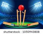 cricket stadium background.... | Shutterstock .eps vector #1050943808